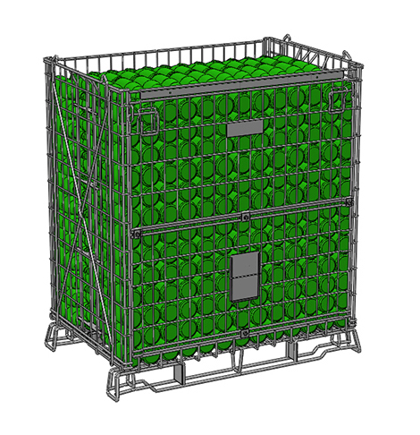 Filbox s'adapte à vos besoins en créant des conteneurs métalliques grillagés sur-mesure.