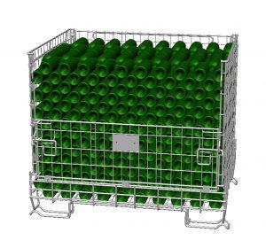 Box métallique vinicole Filbox, 600 bouteilles