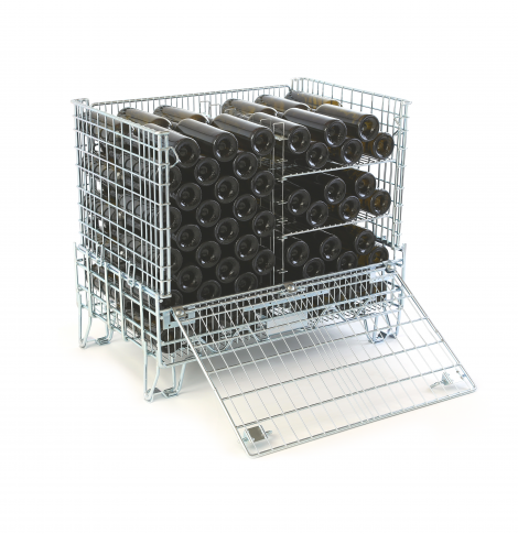 Filbox confectionne des caisses vinicoles de rangement métalliques pour vos bouteilles de vins avec compartiments.