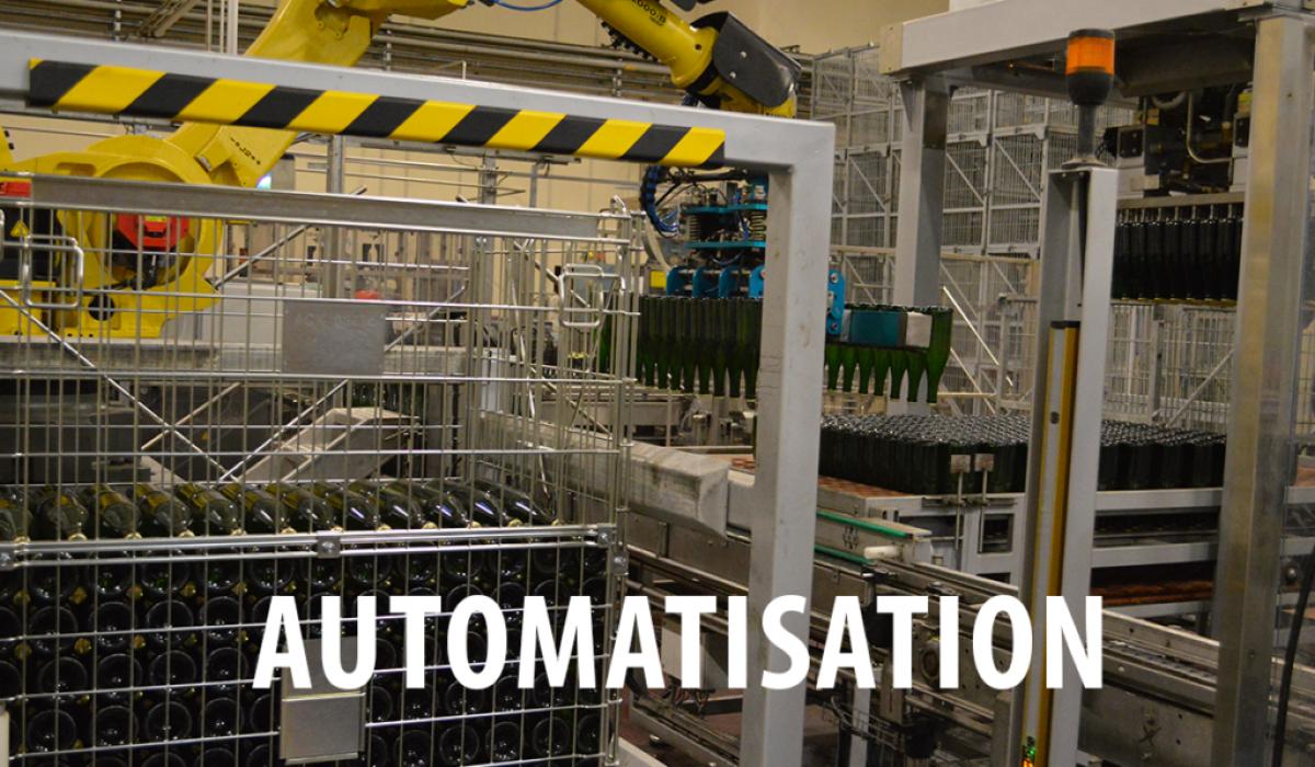 Automatisation et emboxage rapide grâce aux conteneurs métalliques vinicoles Filbox.